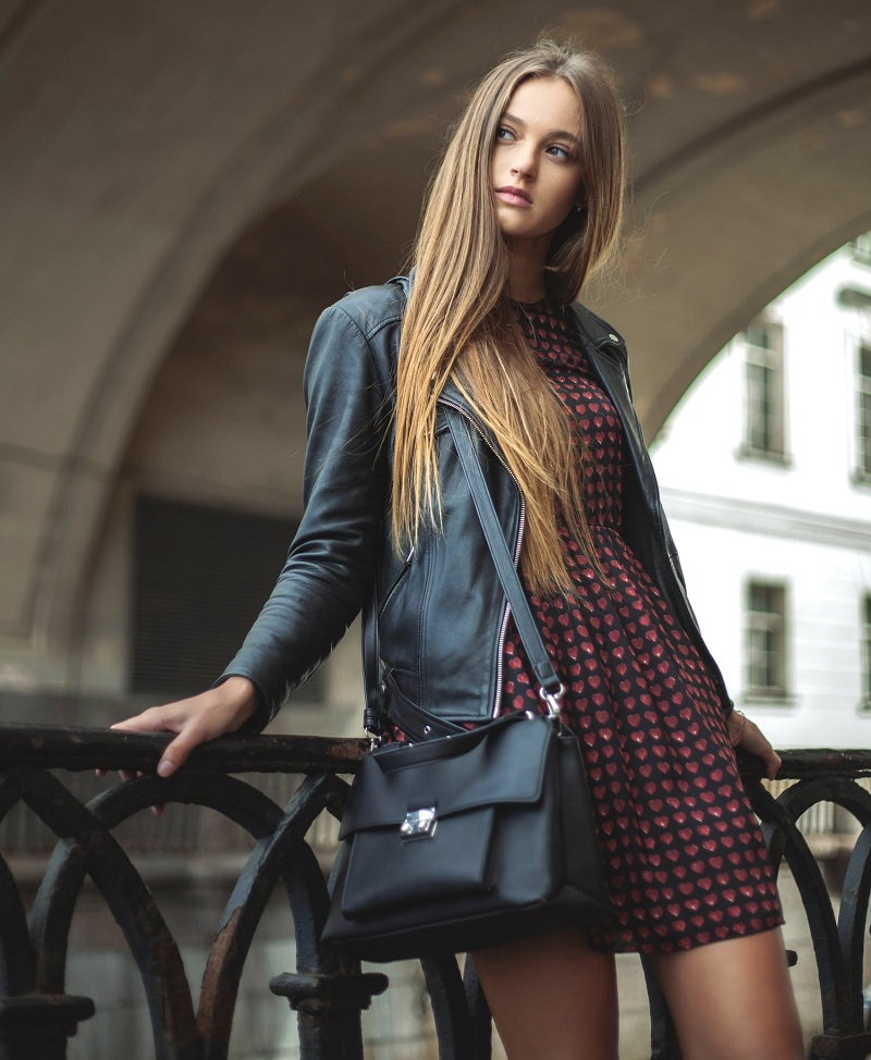 Leather Fashion Look